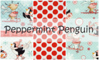 Peppermint Penguin by Lucie Crovatto for Studio E