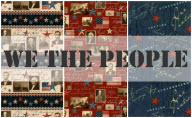 We the People by Stephanie Marrott for Wilmington Prints